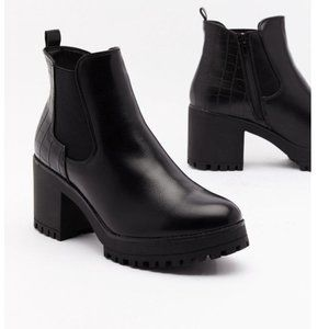 Race to the Croc Faux Leather Chelsea Boots